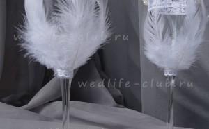 """Свадебные бокалы """"Царевна-лебедь"""""""