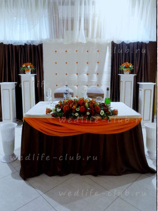Т образный стол на свадьбу 43