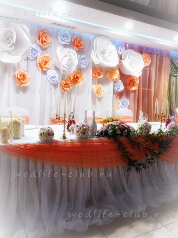 Т образный стол на свадьбу 4