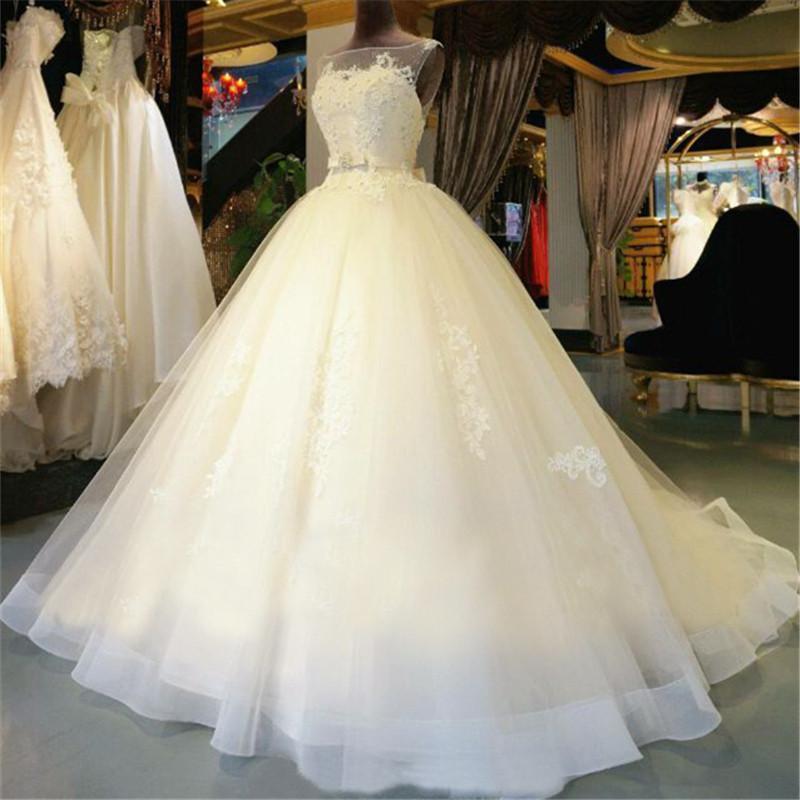 Свадебное платье красивое