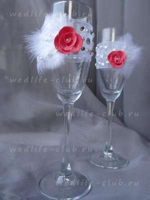 """Свадебные бокалы """"Огонь и лёд"""""""